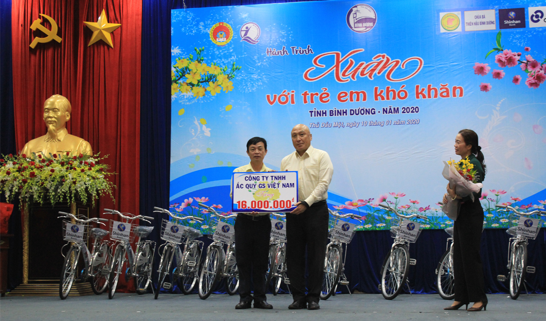 "GSV SPONSORED THE PROGRAM ""SPRING WITH CHILDREN WITH DIFFICULTIES IN BINH DUONG PROVINCE XIII IN 2020"""
