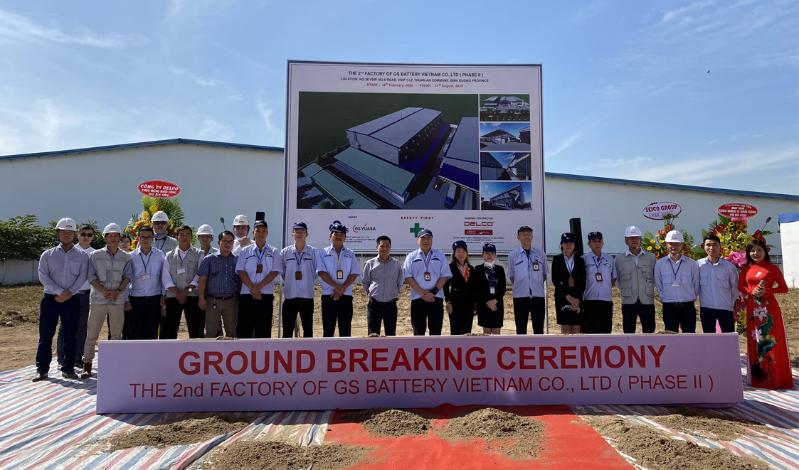 GS BATTERY ORGANIZES THE GROUNDBREAKING CEREMONY FOR THE EXPANSION OF THE SECOND PRODUCTION FACTORY IN BINH DUONG