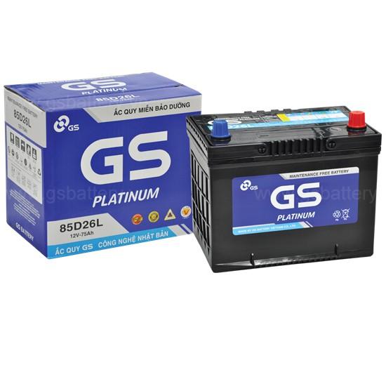 Bình điện ô tô, bình điện xe tải chất lượng Nhật Bản GS 85D26L