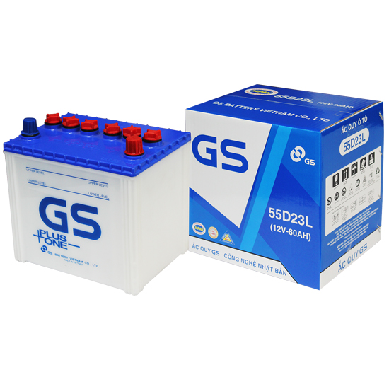 GS Battery 55D23L (12V-60Ah)