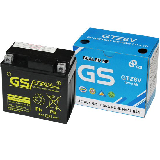 MF Battery GTZ6V (12V-5Ah)